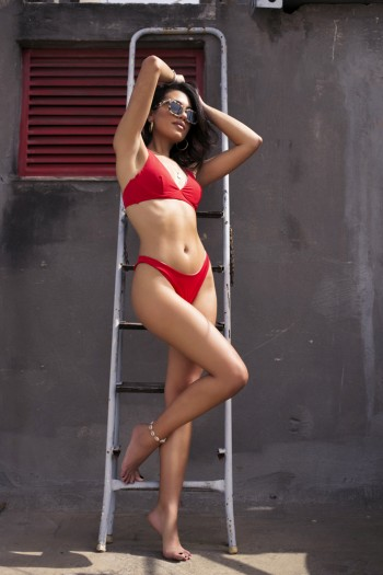 Ocean bikini set in red