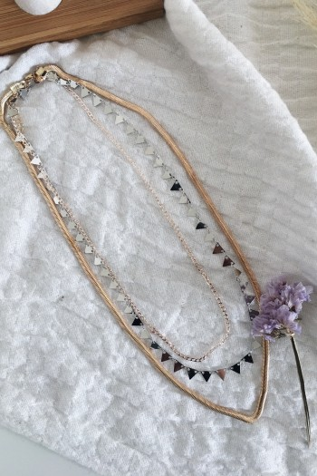 Triplicity layered necklace