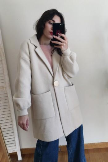 Single button blazer coat