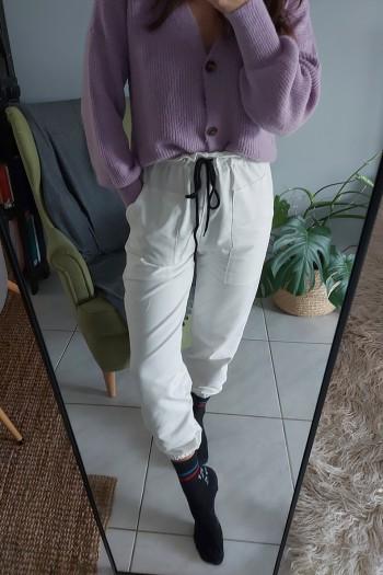 Paperbag waist track pants