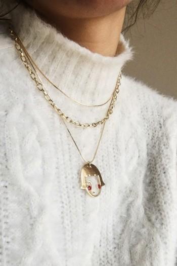 Chicky cheek necklace