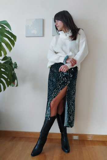 Jane leopard skirt