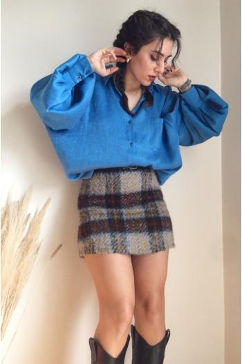 Mini wool skirt