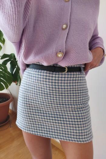 Mini checker skirt