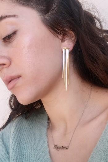 Rainy gold earrings