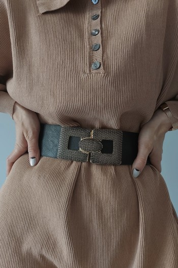 Clipped buckle belt