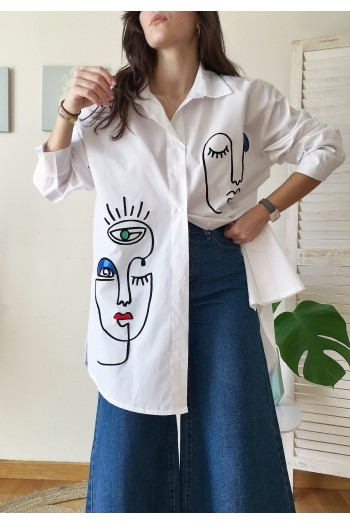 Artistic faces shirt