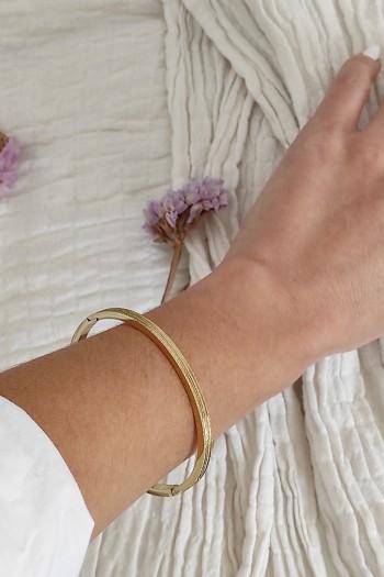 Sparkly mini gold handcuff