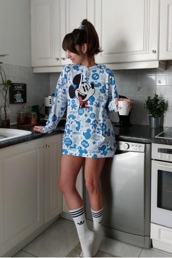 Mickey hoodied sweat dress