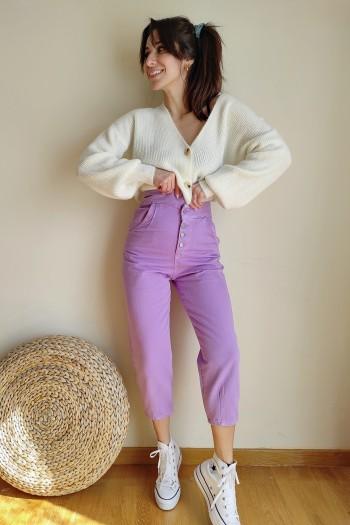 Uneven waist trousers