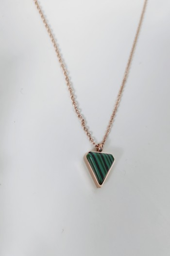 Triangle green necklace