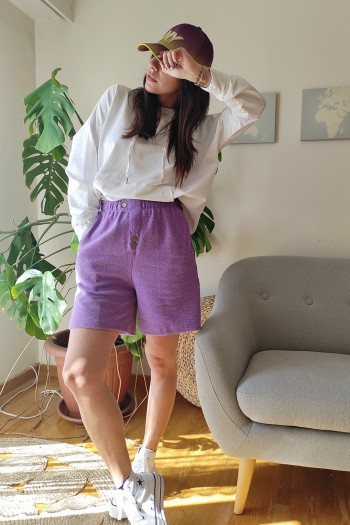 Towel bermuda shorts