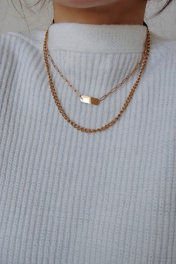 Double layered basic necklace