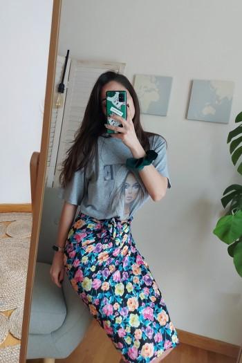Lily satin skirt