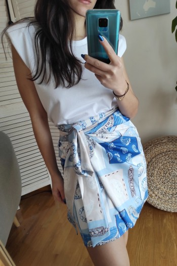 Daniella satin skirt