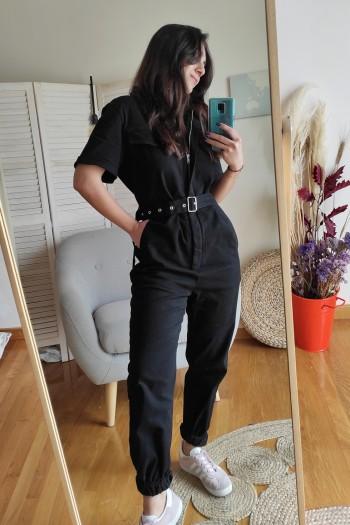 Industrial jumpsuit in black