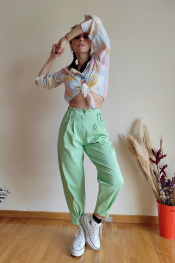 Menta slouchy jeans