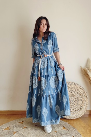 May maxi denim dress