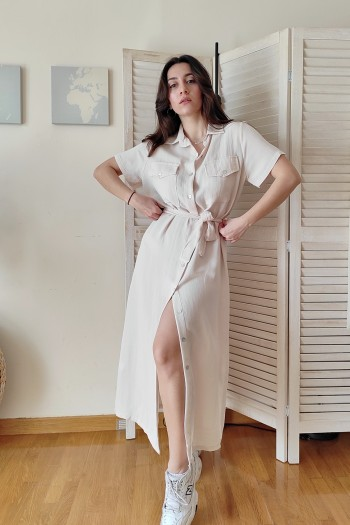 Milana button down dress