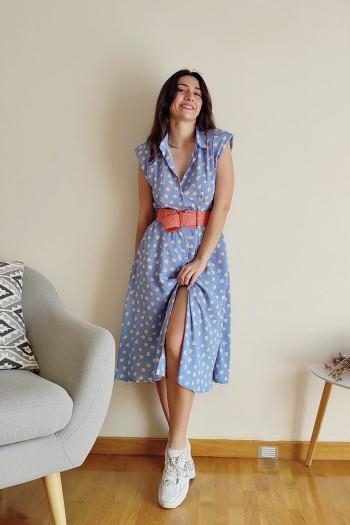 Jolin button down dress