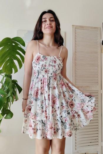 Paris mini floral dress