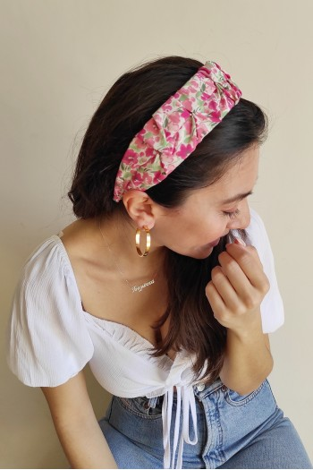 Flat floral hairband