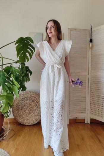 Milky lace dress