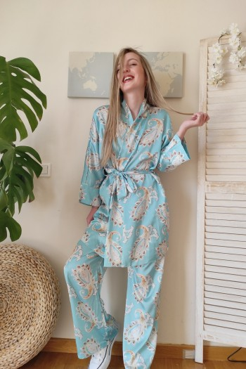 Pyjama satin suit set