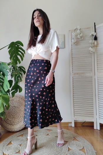 Grace satin skirt