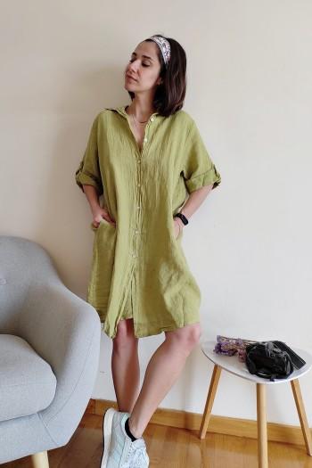 Oversize linen shirt