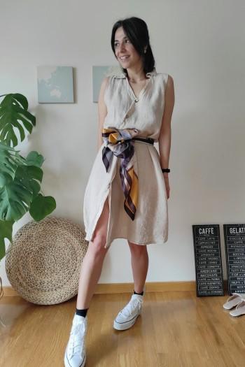Harriet linen dress