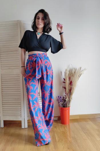 Nandes wide leg trousers