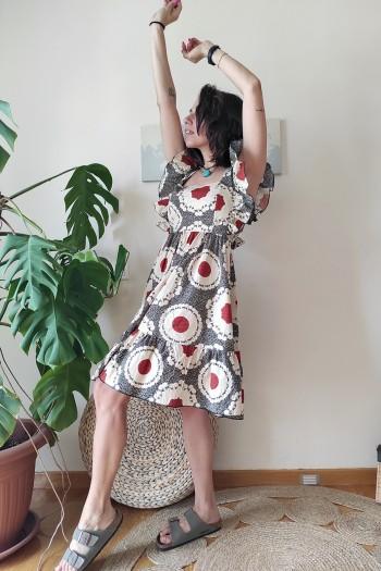 Katja ruffled dress