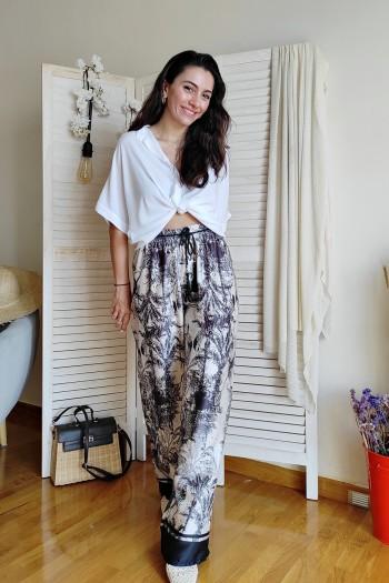 Japan wide leg trousers