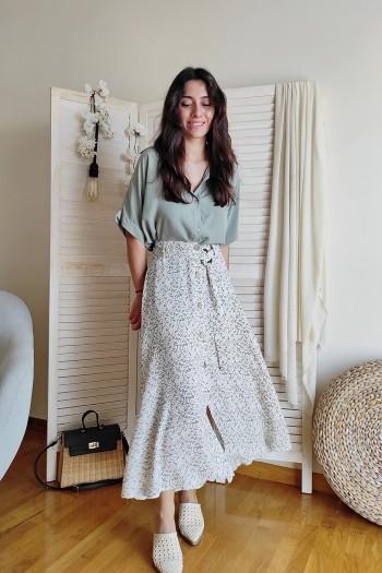 Rhianne maxi floral skirt