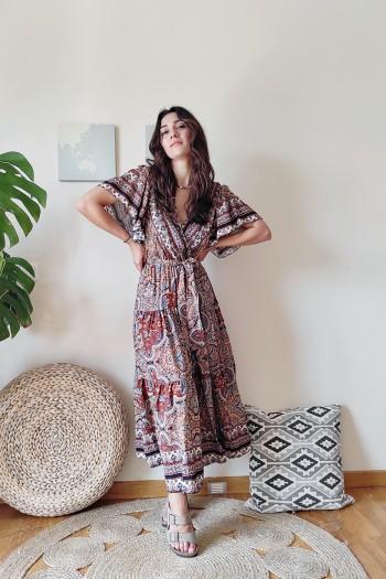 Reina croise dress