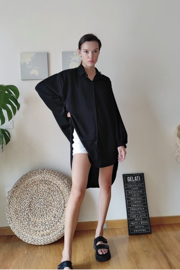Asymmetry oversized shirt