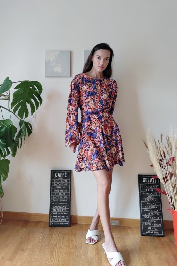 Autumn flower skater dress