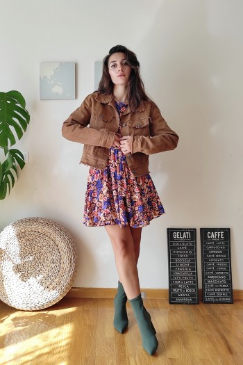 Raw cropped jacket