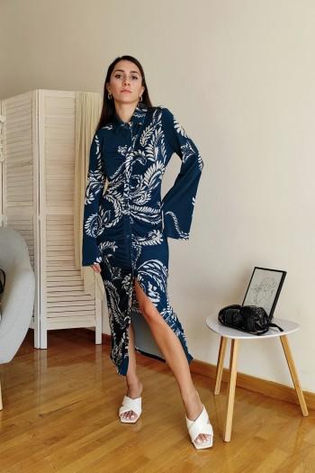 Seamed detail dress