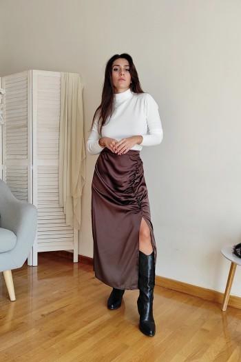 Choco ruched skirt