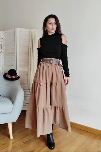 Corduroy maxi skirt