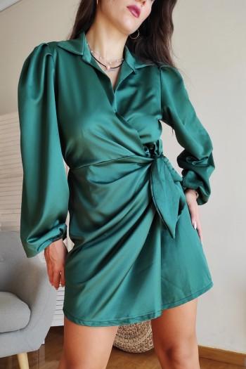 Mansa satin dress