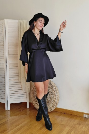 Mona satin dress