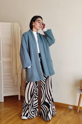 Oversized open coat