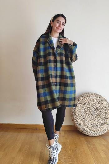 Cozy checkered coat